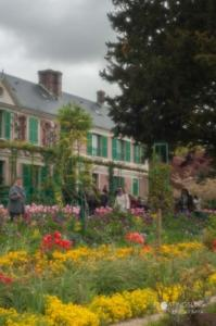 Monet's garden with his home in the background