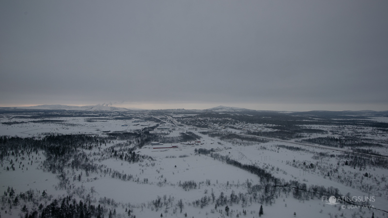 Approaching Kiruna, nothern Sweden