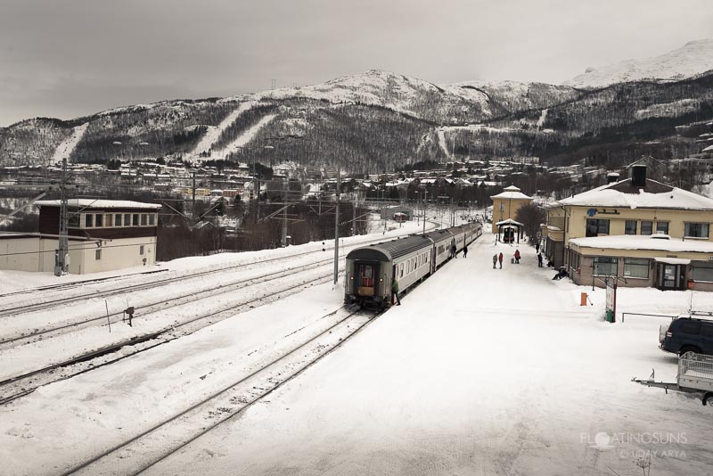 Train station at Narvik, Ready to head back