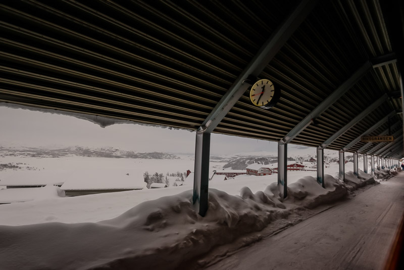 a train station at the border of Sweden and Norway